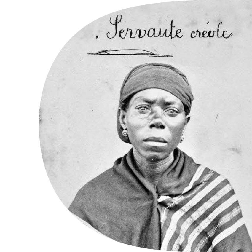 Servante Créole iconothèque historique de l'océan Indien / La Réunion