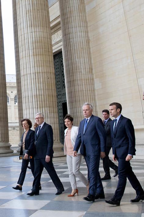 Jean Marc Ayrault Panthéon Emmanuel Macron
