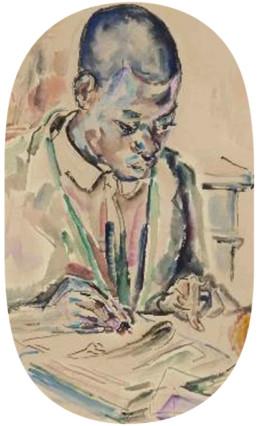 Le nègre écrivant • COUSTURIER Lucie © RMN