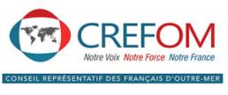 Logo CREFOM Notre voix notre force notre france - Conseil représentatif des français d'outre-mer